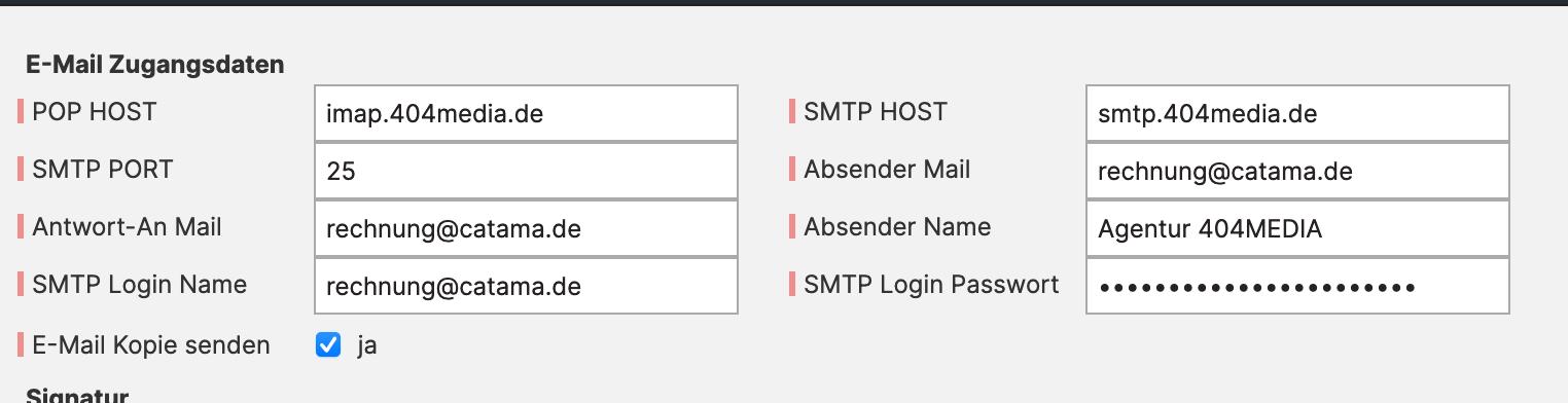 CATAMA Kfz Suite - E-Mail Versand